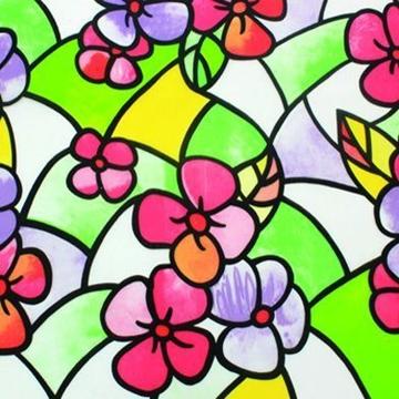 Bilde av Statisk vindusfolie rød/gul stained glass 45x150