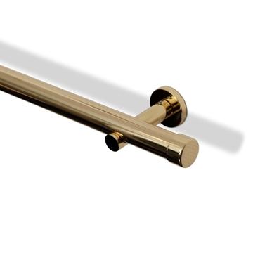 Bilde av Veggholder Moderne 8cm Blank Messing 30 mm